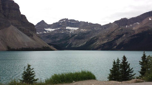 Bow Lake, near the beginning of the Icefields Parkway. Not much ice. Worrisome.