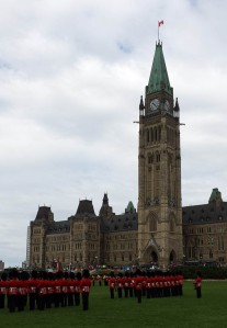 A little pomp on Parliament Hill: changing the guard.